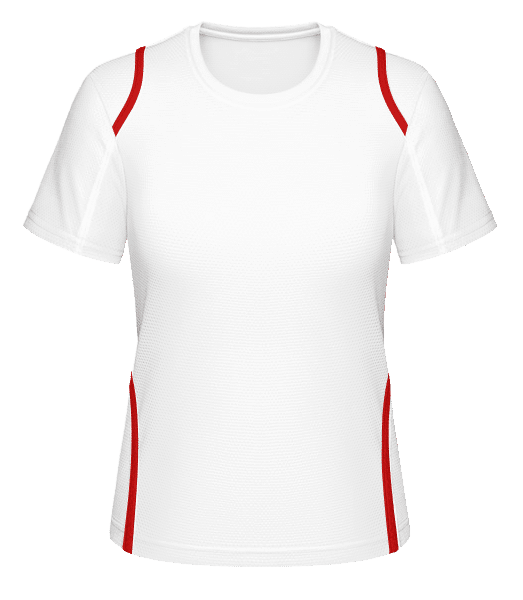 Women's Jersey - White / Red - Front