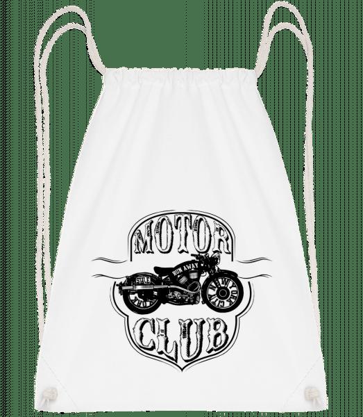 Motorclub Icon - Drawstring Backpack - White - Vorn