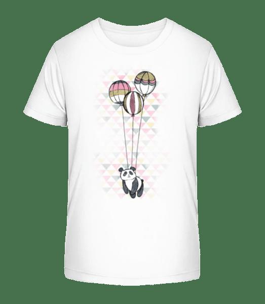Flying Panda - Kid's Premium Bio T-Shirt - White - Front