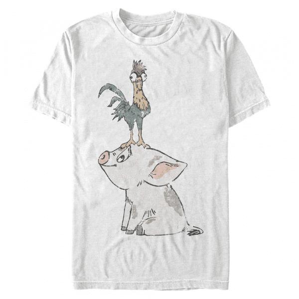Pua Pua & Hei Hei - Pixar Moana - Men's T-Shirt - White - Front
