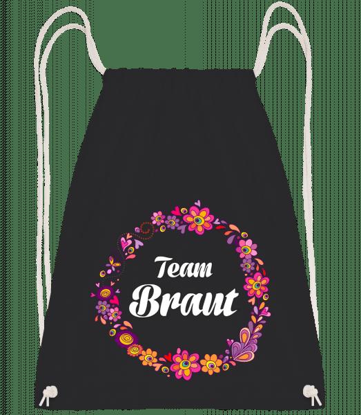 Team Braut - Turnbeutel - Schwarz - Vorn