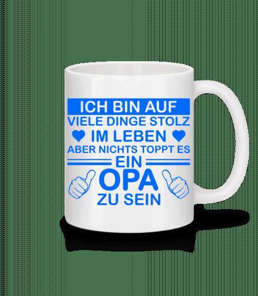 Stolzester Opa Der Welt - Tasse - Weiß - Vorn
