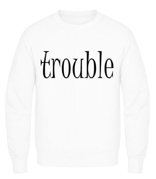 Trouble Makers Partner - Men's Sweatshirt - White - Front