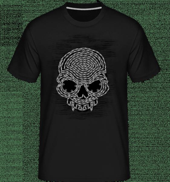 Bicycle Chains Skull -  Shirtinator Men's T-Shirt - Black - Vorn