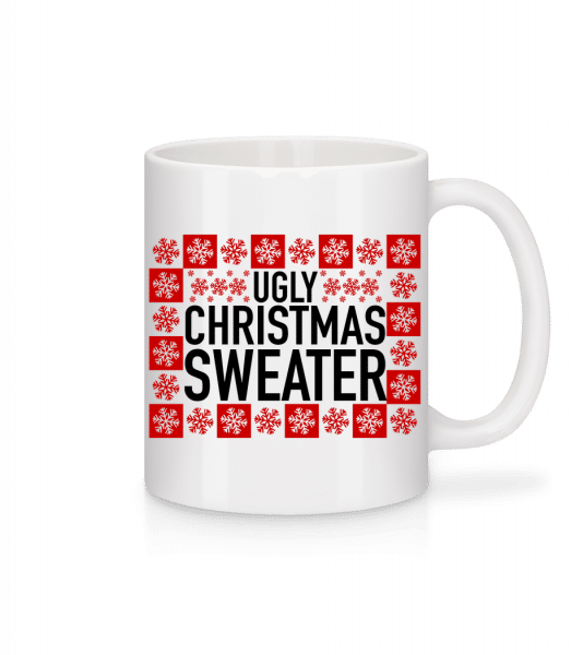 Ugly Christmas Sweater - Mug - White - Vorn