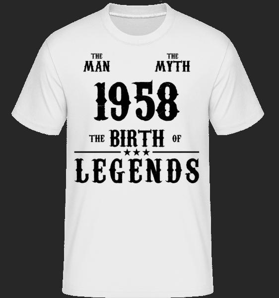 The Myth 1958 -  Shirtinator Men's T-Shirt - White - Vorn