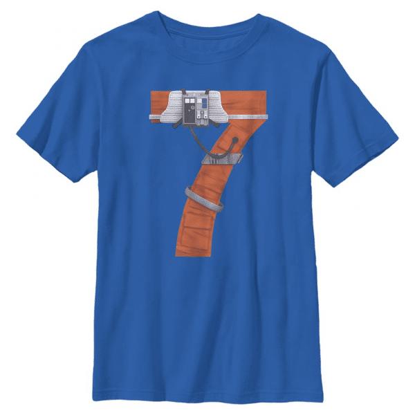 Rebel Seven - Star Wars - Kids T-Shirt - Royal blue - Front