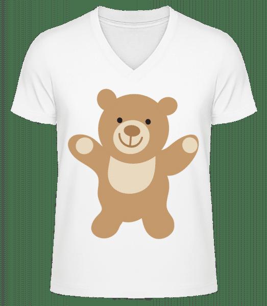 Kids Comic - Bear - Men's V-Neck Organic T-Shirt - White - Vorn