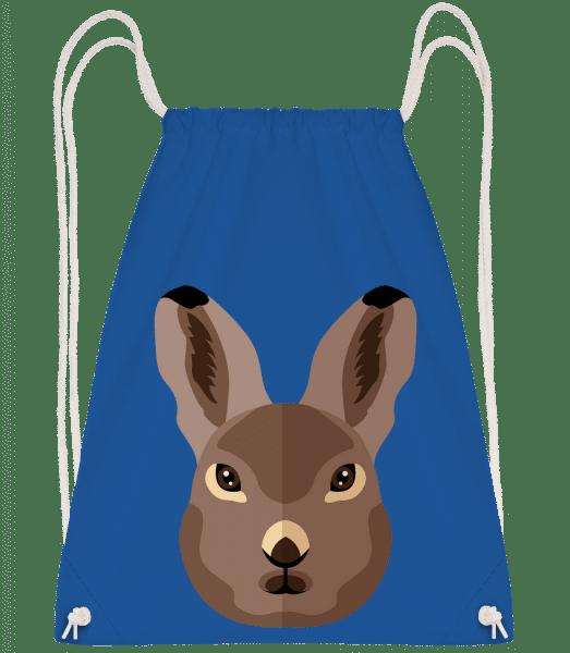 Bunny Comic Shadow - Drawstring Backpack - Royal blue - Vorn