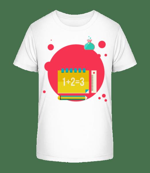 Maths Icon - Kid's Premium Bio T-Shirt - White - Vorn