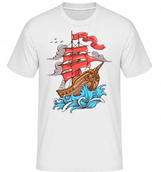 Ship Sail To The Sea - Shirtinator Männer T-Shirt - Weiß - Vorn