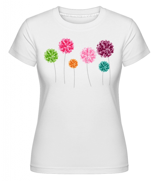 Colorful Flowers -  Shirtinator Women's T-Shirt - White - Front