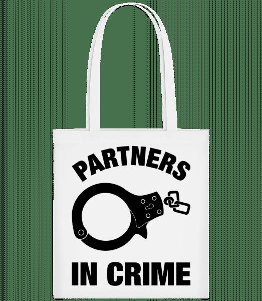 Partner in crime - Carrier Bag - White - Vorn