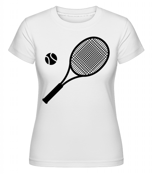 Tennis Comic -  Shirtinator Women's T-Shirt - White - Vorn