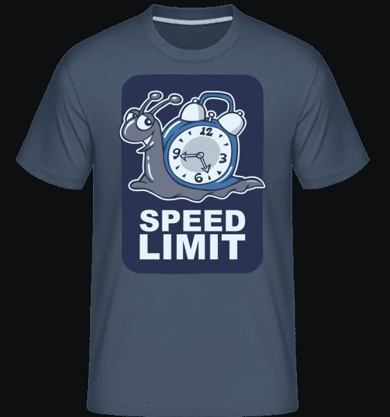 Speed Limit -  Shirtinator Men's T-Shirt - Denim - Vorn