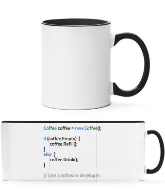 Coffee Loop - Two-toned Mug - White - Vorn