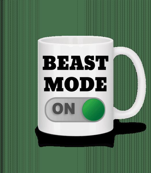 Beast Mode On - Mug en céramique blanc - Blanc - Devant