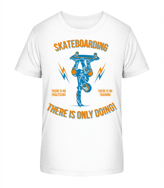 Skateboarding - Kid's Premium Bio T-Shirt - White - Vorn