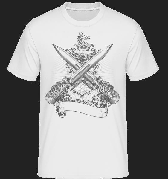 Cross Swords -  Shirtinator Men's T-Shirt - White - Vorn
