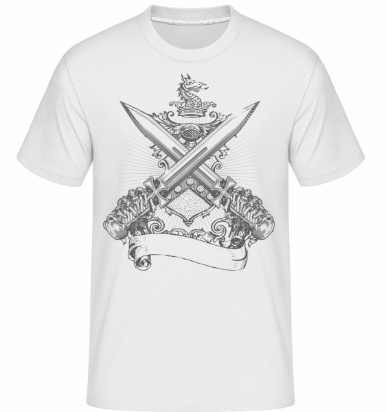Cross Swords -  Shirtinator Men's T-Shirt - White - Front