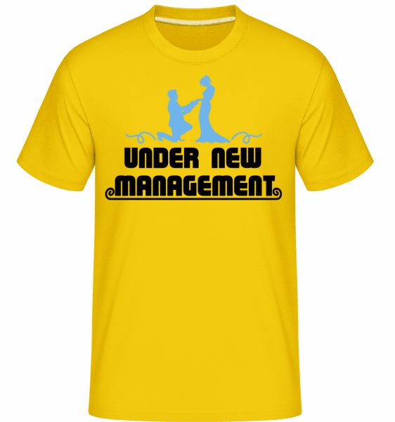 Mariage Under New Management -  Shirtinator Men's T-Shirt - Golden yellow - Vorn