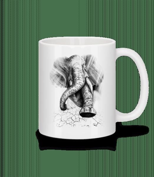Angry Elephant - Mug - White - Vorn