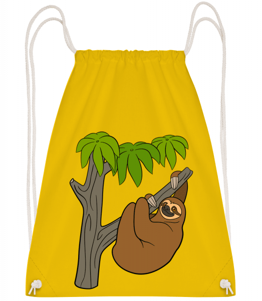 Sloth On The Tree - Gym bag - Yellow - Vorn