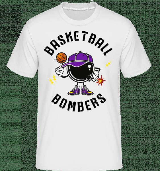 Basketball Bombers -  Shirtinator Men's T-Shirt - White - Vorn