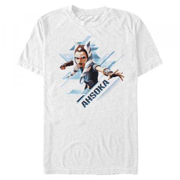 Ahsoka Angled - Star Wars Clone Wars - Men's T-Shirt - White - Front