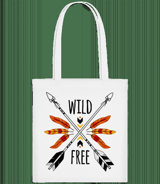 Wild And Free Logo - Stoffbeutel - Weiß - Vorn
