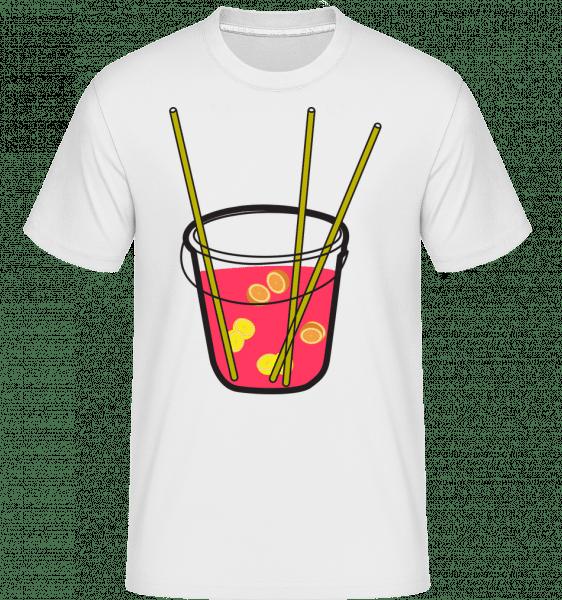 Sangria -  Shirtinator tričko pro pány - Bílá - Napřed