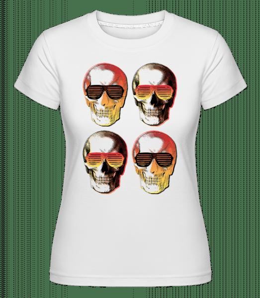 Stylish Skulls -  Shirtinator Women's T-Shirt - White - Vorn