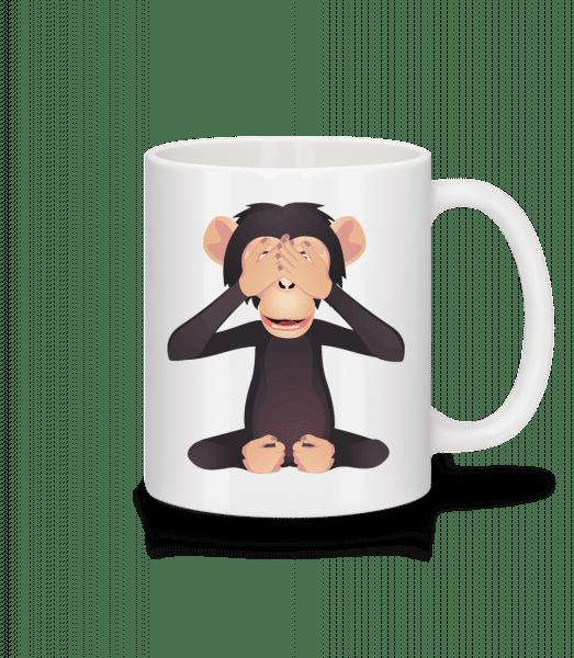 Blind Monkey - Mug - White - Front