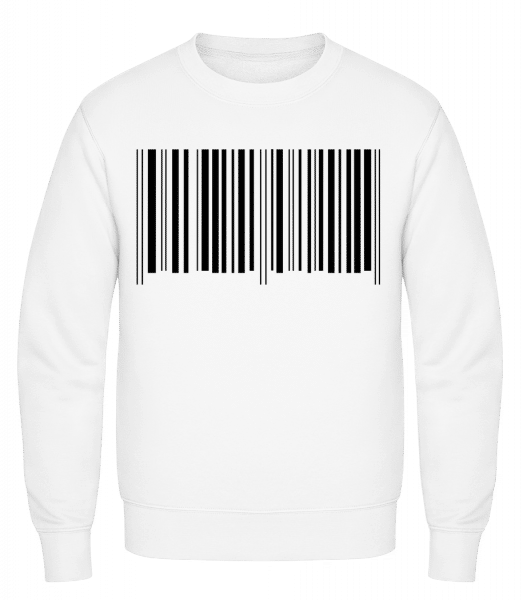 Barcode - Classic Set-In Sweatshirt - White - Vorn