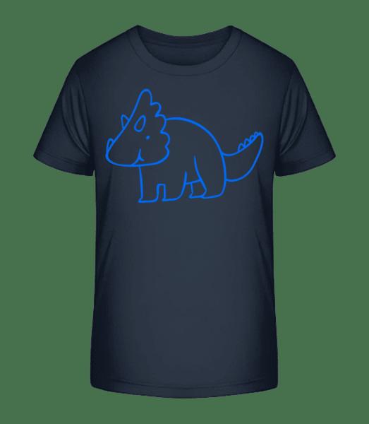Dinosaur Kids Blue - Detské Premium Bio tričko - Namořnická modrá - Napřed