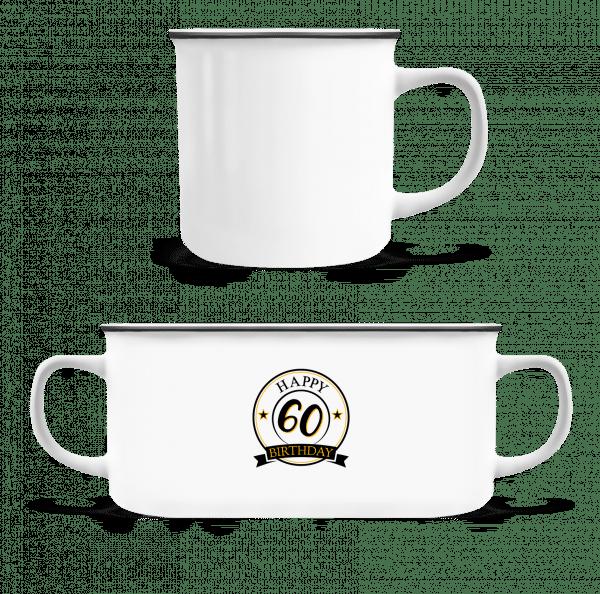 Happy Birthday 60 - Enamel-cup - White - Vorn