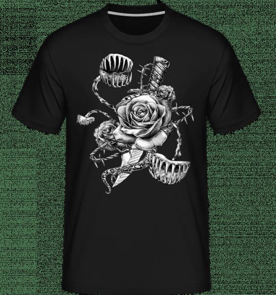 Roses Carnivores -  Shirtinator Men's T-Shirt - Black - Vorn