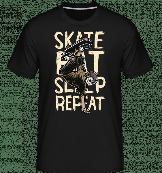 Skate Eat Sleep Repeat -  Shirtinator Men's T-Shirt - Black - Vorn