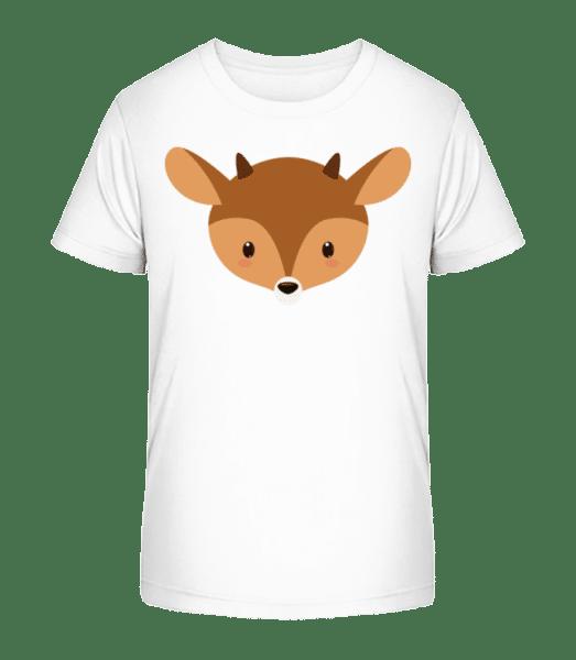 Cerf Comic - T-shirt bio Premium Enfant - Blanc - Vorn