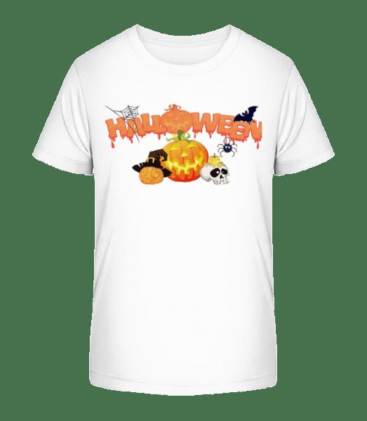 Halloween Pumpkin Rave - Kid's Premium Bio T-Shirt - White - Vorn