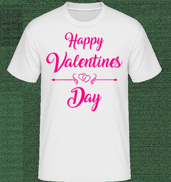Happy Valentines Day -  Shirtinator Men's T-Shirt - White - Vorn