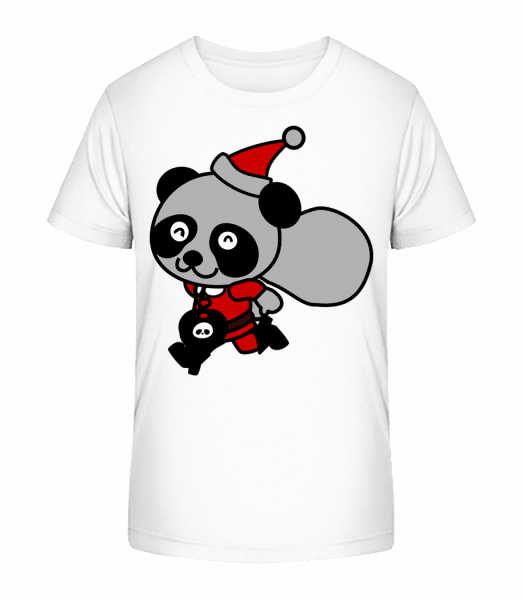 Ours De Noël - T-shirt bio Premium Enfant - Blanc - Devant
