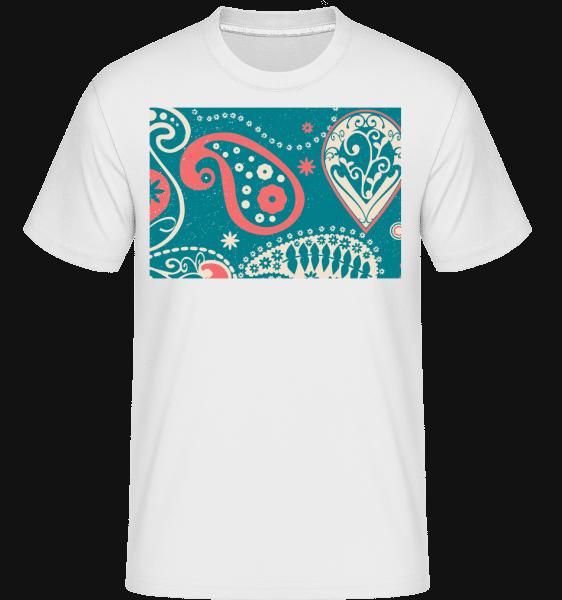 Bandaner Pattern -  Shirtinator Men's T-Shirt - White - Front