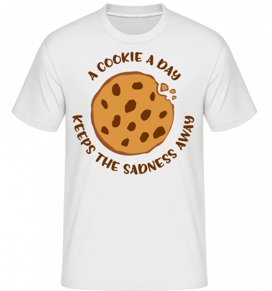 A Cookie A Day -  Shirtinator Men's T-Shirt - White - Vorn