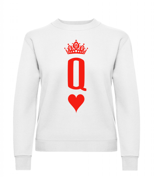 Poker Queen - Women's Sweatshirt - White - Vorn