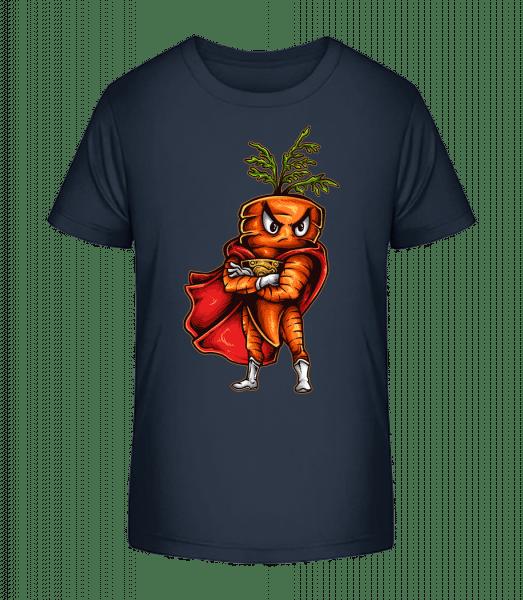 Super Carrot - Kid's Premium Bio T-Shirt - Navy - Vorn
