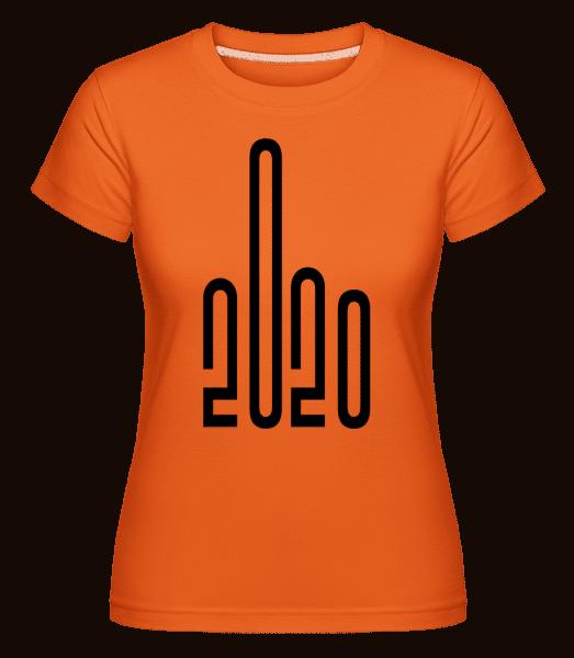 2020 Middle Finger -  Shirtinator Women's T-Shirt - Orange - Vorn