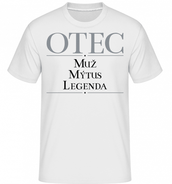 Otec Muz Mytus Legenda -  Shirtinator Men's T-Shirt - White - Vorn