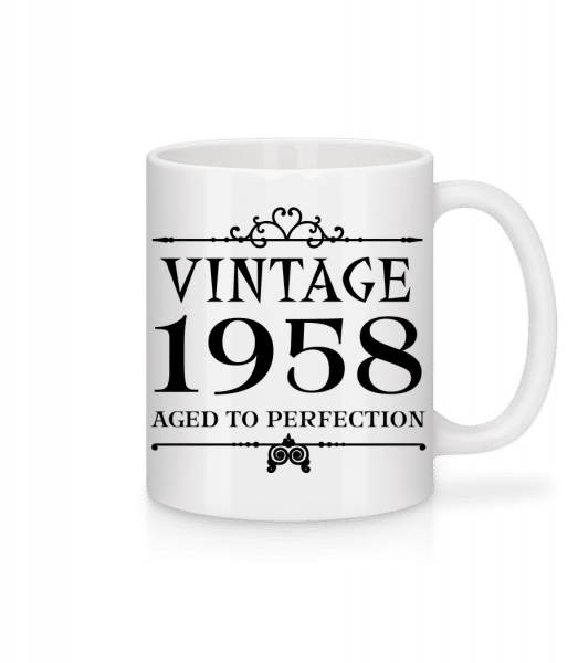 Vintage 1958 Perfection - Mug - White - Front