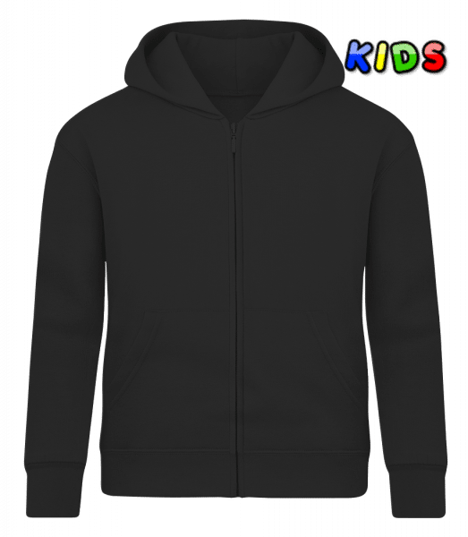 Kid's Sweatjacket - Black - Front